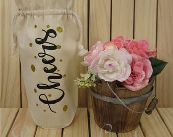 Wine gift bag - Wine Bag - Cheers wine bag
