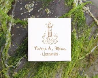 Lighthouse weddin stamp