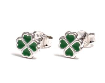 Four-leaf clover earrings 925 sterling silver