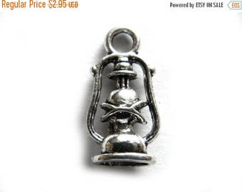 HALF PRICE 6 Oil Lamp Charms - Camping Charm