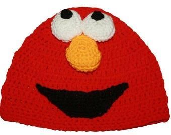 Hand Crocheted Elmo Hat HH 030