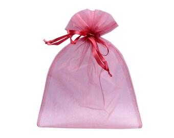 3 sachet pink cyclamen organza 20 x 26 cm packaging