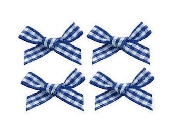 4 nodes Navy gingham 2 cm