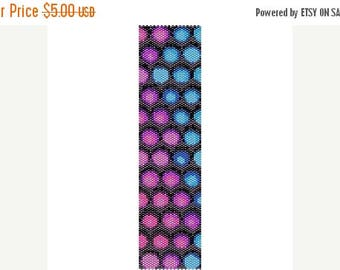 SALE HALF PRICE off Instant Download Beading Pattern Peyote Stitch Bracelet Funky Bubbles Seed Bead Cuff