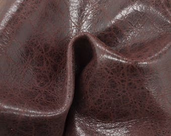 "Sweet Black Cherry  Leather New Zealand Deer Hide 12"" x 12"" Pre-cut 2 ounces TA-56414 (Sec. 6,Shelf 6,A)"