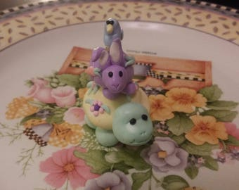 Handmade Playful Whimsies Baby Animal Sculpture Cake Topper Fun Adorable Gift Figurine OOAK