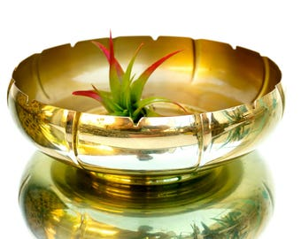 Gorgeous Vintage Brass Console Bowl | Ashtray | Catchall | Fruit Bowl || Regency Centerpiece