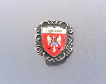 Vintage Enamel Jugoslavien Souvenir Pin