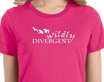 Wildly divergent three birds t-shirt
