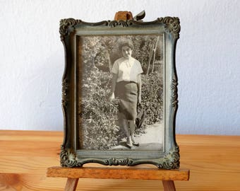 Greek Lady Portrait, Framed Portrait, Lady Photo, Old Framed Photo, Framed Photograph, Black And White Photo, Old Photograph, Old Portrait,