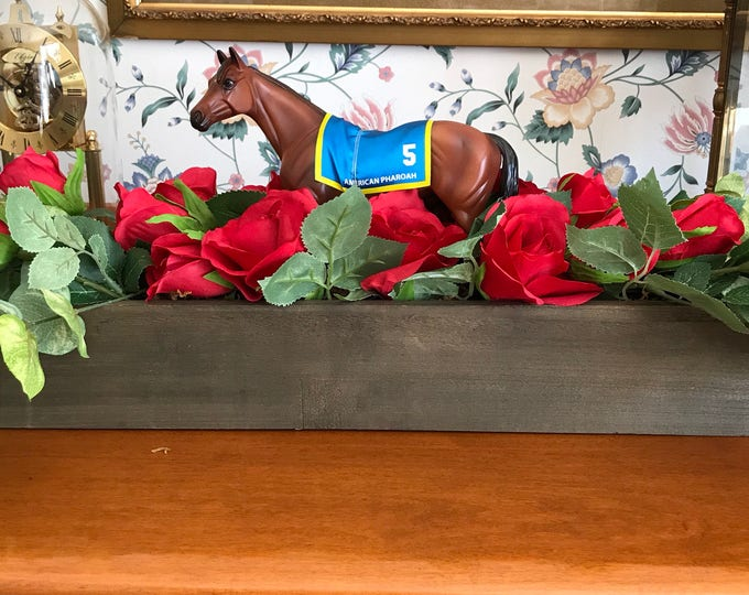 Equestrian Horse Floral Centerpiece for Kentucky Derby Weddings Parties Red Rose
