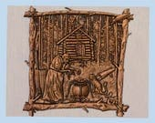 Witcher Wood Carving, Wit...