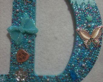 Blinged out Letter D
