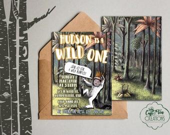 Wild One Invitation, Wild One Birthday Invitation, Where the Wild Things Are Invitation, Where the Wild Things Are Birthday Invitation