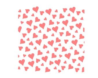Heart Confetti Cookie Stencil, Heart Pattern Cookie Stencil, Valentines Day Cookie Stencil, Wedding Cookie Stencil, Love Cookie Stencil