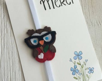 French Teacher's gift | end of school bookmark and card  | made in Quebec