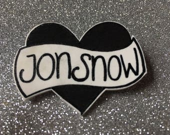 Jon Snow pin badge