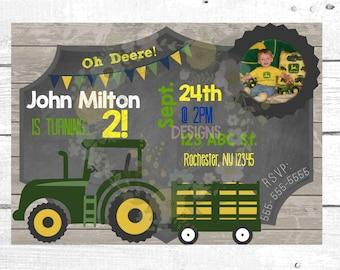 John Deere Birthday Invitation