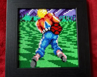 Space Harrier Framed Pixel Bead Picture. Sega Classic! Arcade!!