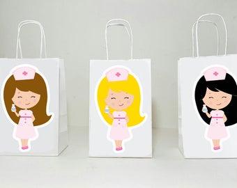 Nurse Goody Bags, Nursing Goody Bags, Nurse Birthday, Nurse Graduation, Nursing School, Nurse Party Favor Bags, Doctor's Party Favor Bags
