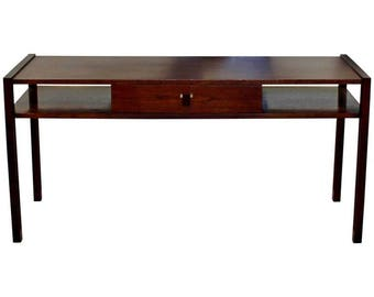 Mid Century Modern Edward Wormley for Dunbar Sofa Console Table Walnut Rosewood