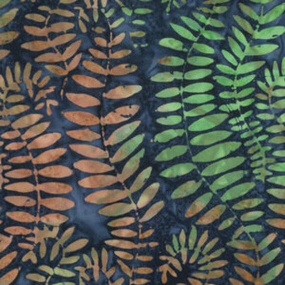 FRONDS Blue ARTISAN BatikKaffe Fassett Sold in 1/2 yd increments