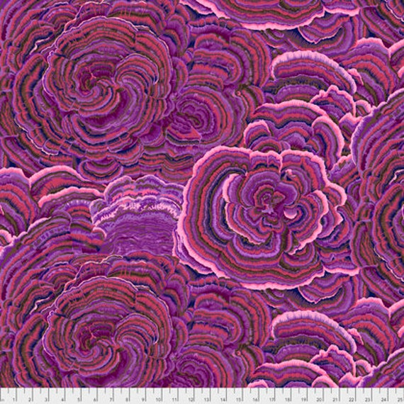 TREE FUNGI PURPLE PWPJ082 Philip Jacobs Kaffe Fassett Collectives Sold in 1/2 yd increments
