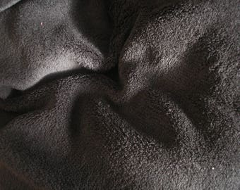 Minkee fabric soft black color