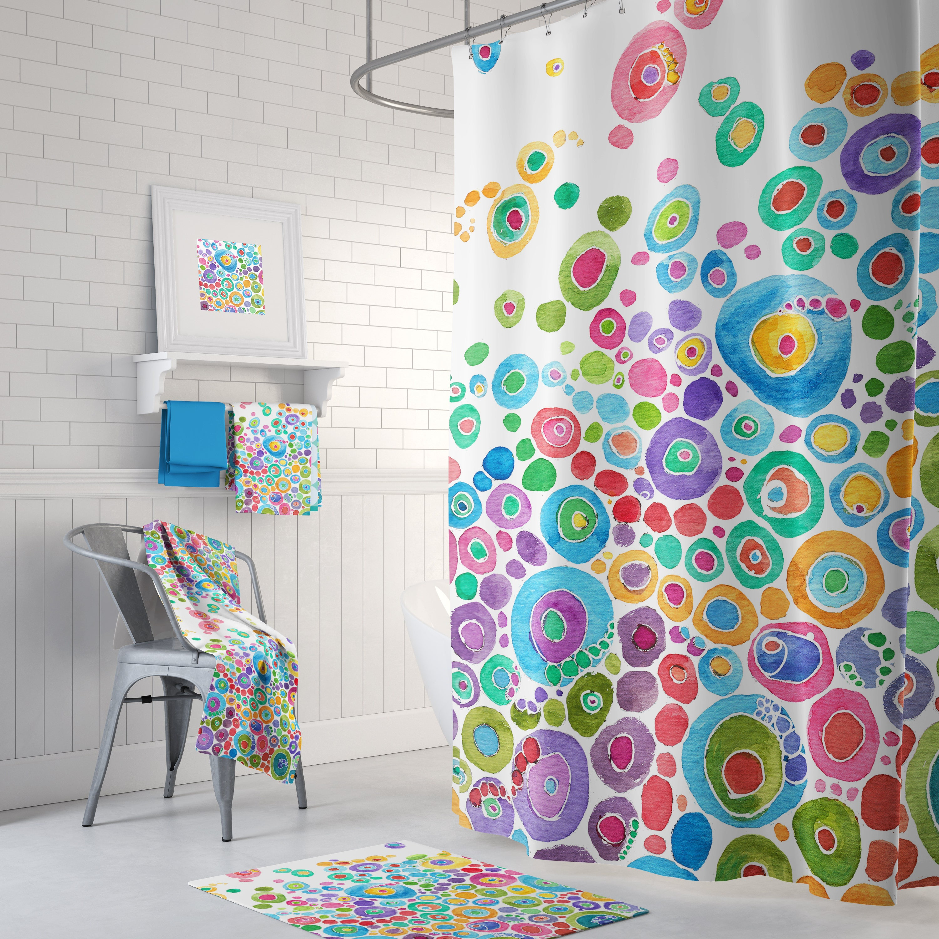 Colorful shower curtain - Details Colorful Shower Curtain