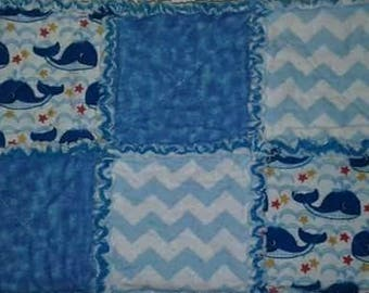 Flannel Rag Quilt-Nautical