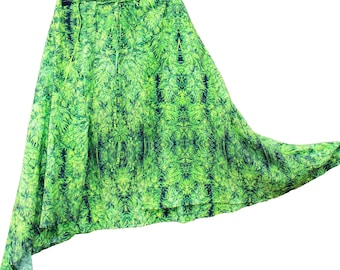 Hippy Skirt,Gypsy Skirt,Wrap Skirt,Festival Skirt in Amnesia Kush, Womens Skirts,Boho Skirt,Bohemian skirt, Hippie Skirt, Resort Wear