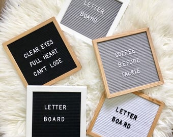"""Letter Board IN STOCK 10""""x10"""" 