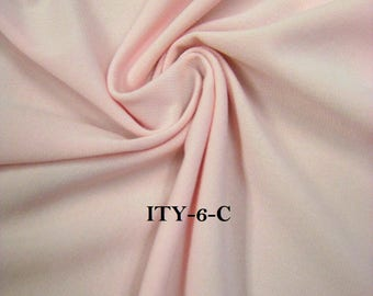 "Solid Polyester ITY Matte Jersey 2 ways Stretch Fabric 58/60"" Wide- By the Yard"