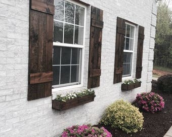 Rustic outdoor shutters