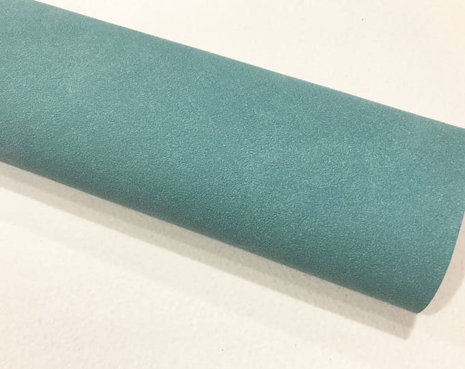 Teal Faux Suede Leather A4 Sheet