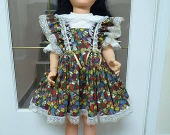 "UniKaren Designs Patty Playpal Companion 35"" 36"" doll dress with matching bloomers knickers"