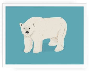 Polar Bear print - bear print winter mammals print polar bear art mammals art animal print