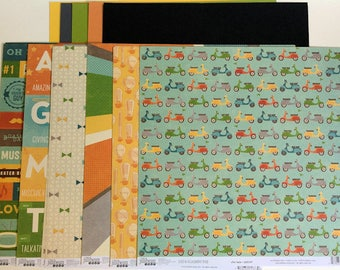 """Jillibean Soup 12"""" x 12"""" Paper Collection & coordinating cardstock"""