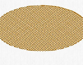 """Knockdown Stitch Oval 1.5""""x3""""  Embroidery Design Digital File - convo us if you need a different size or shape"""
