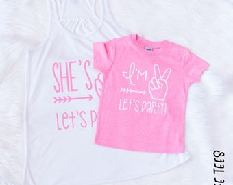 Im Two Lets Party - Im Two - Birthday Shirt - Mom and Me Shirts - Second Birthday Outfit Girl - 2nd Birthday Outfit Girl - 2nd Birthday