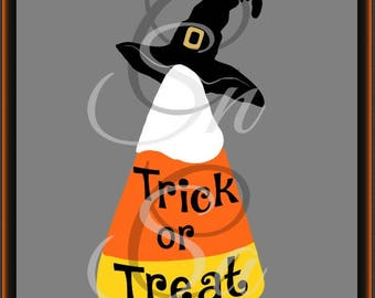 Candy Corn SVG Halloween Trick or Treat Witch Hat Spider Web Ghost Bat Tree Haunted House Fall Mom Life Monogram Letter Vinyl Decal 2017.