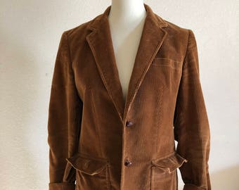 Vintage Brown Corduroy Blazer Jacket