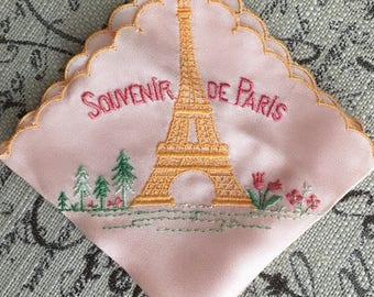 Souvenir de Paris Vintage Handkerchief