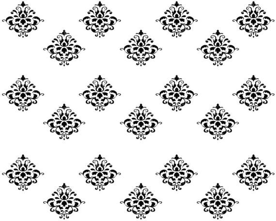Damask - Designer Strips - Edible Cake Side Toppers- Decorate The Sides of Your Cake! - D22642