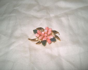 Vintage Costume Jewelry Rose Pin