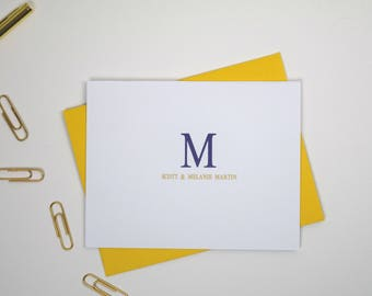 Couples Personalized Stationery, Personalized Stationary Set, Personalized Monogram Stationery, Personalized Stationery Gift Set of 12