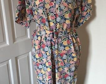 1980s vintage Jaeger dress size UK 14