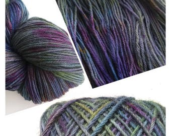 Oxidised Hand Dyed DK Pure Soft Wool 100g 180M