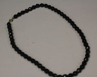 Black Cut Bead Necklace