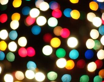 Christmas Lights   Art Print   Macro Photography